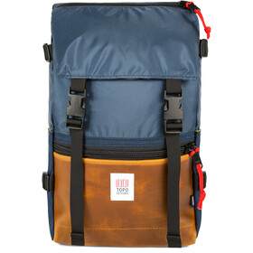 Topo Designs Rover Mochila, navy/brown leather